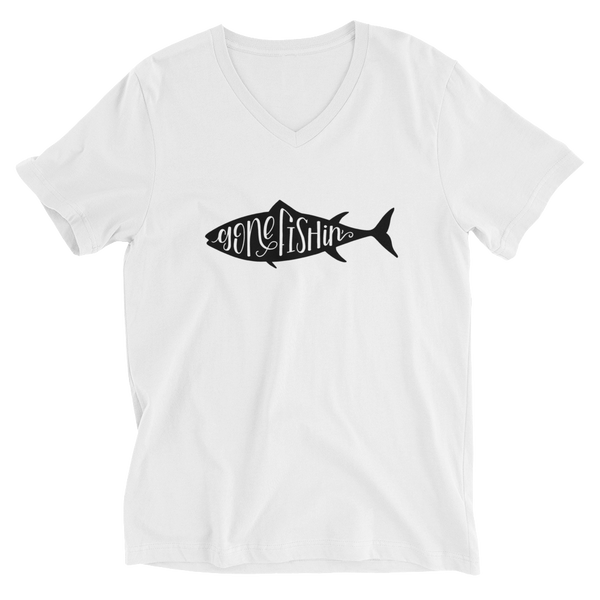 Gone Fishing V Neck Tee