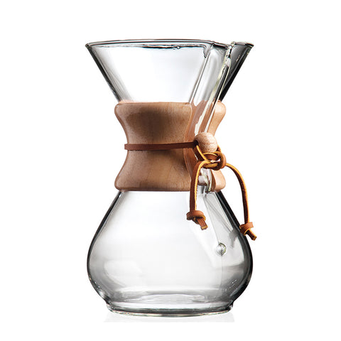 Chemex 6 Cup Coffee Maker (Wood Neck)