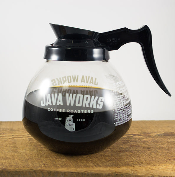 picture of 64oz glass Java Works decanter