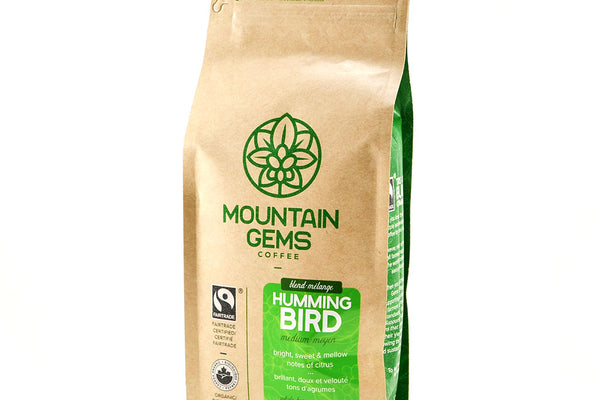 Mountain Gems Hummingbird Blend Fairtrade Certified, Organic Coffee