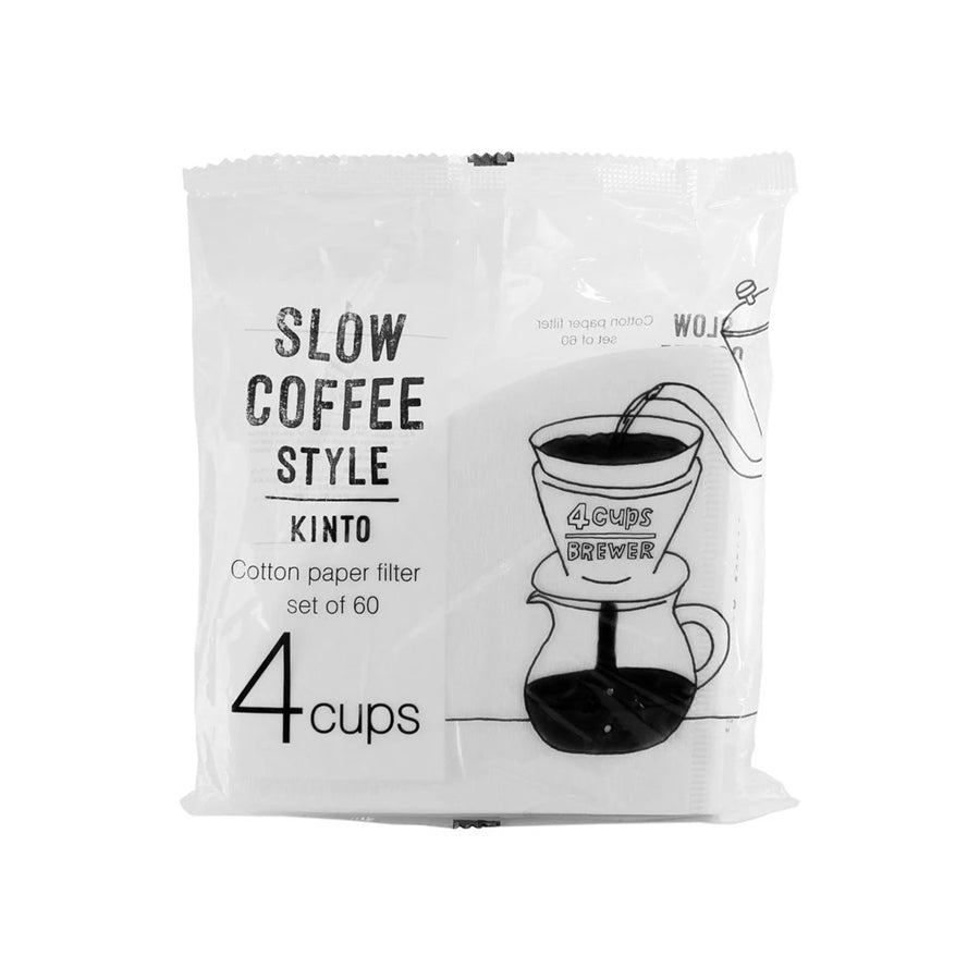 Kinto Slow Coffee Filters (Compatible with V60-02) 60 ct