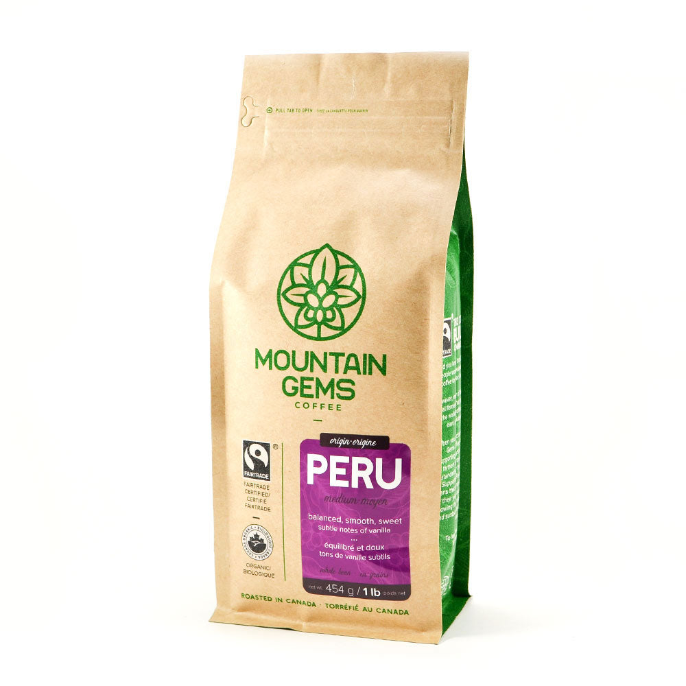Mountain Gems Peruvian Fairtrade Certified, Organic Coffee