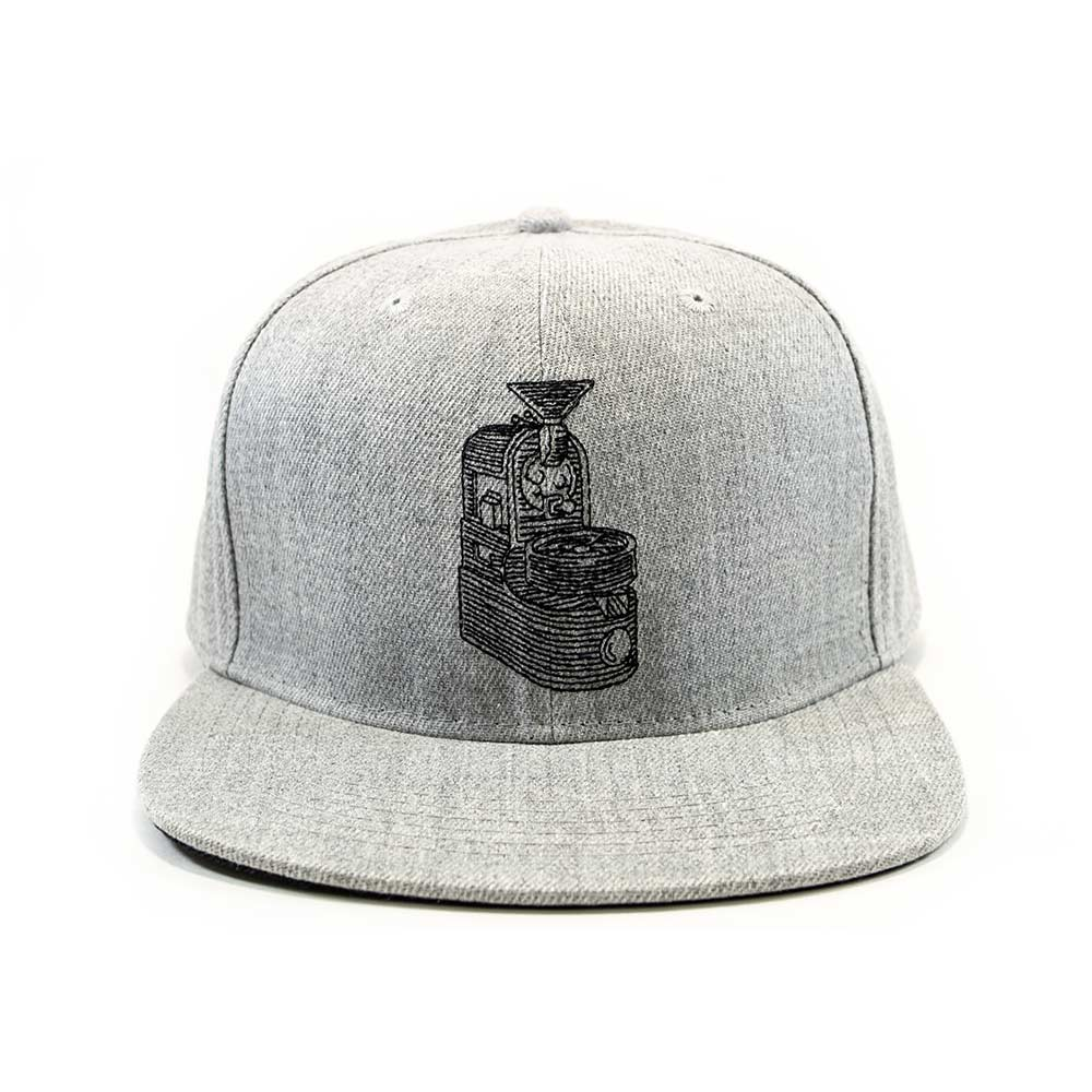 Java Works Grey Snapback Roaster Hat