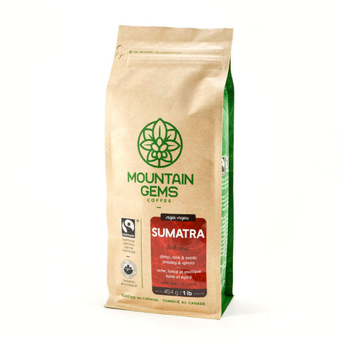 Mountain Gems Sumatra Fairtrade Certified, Organic Coffee