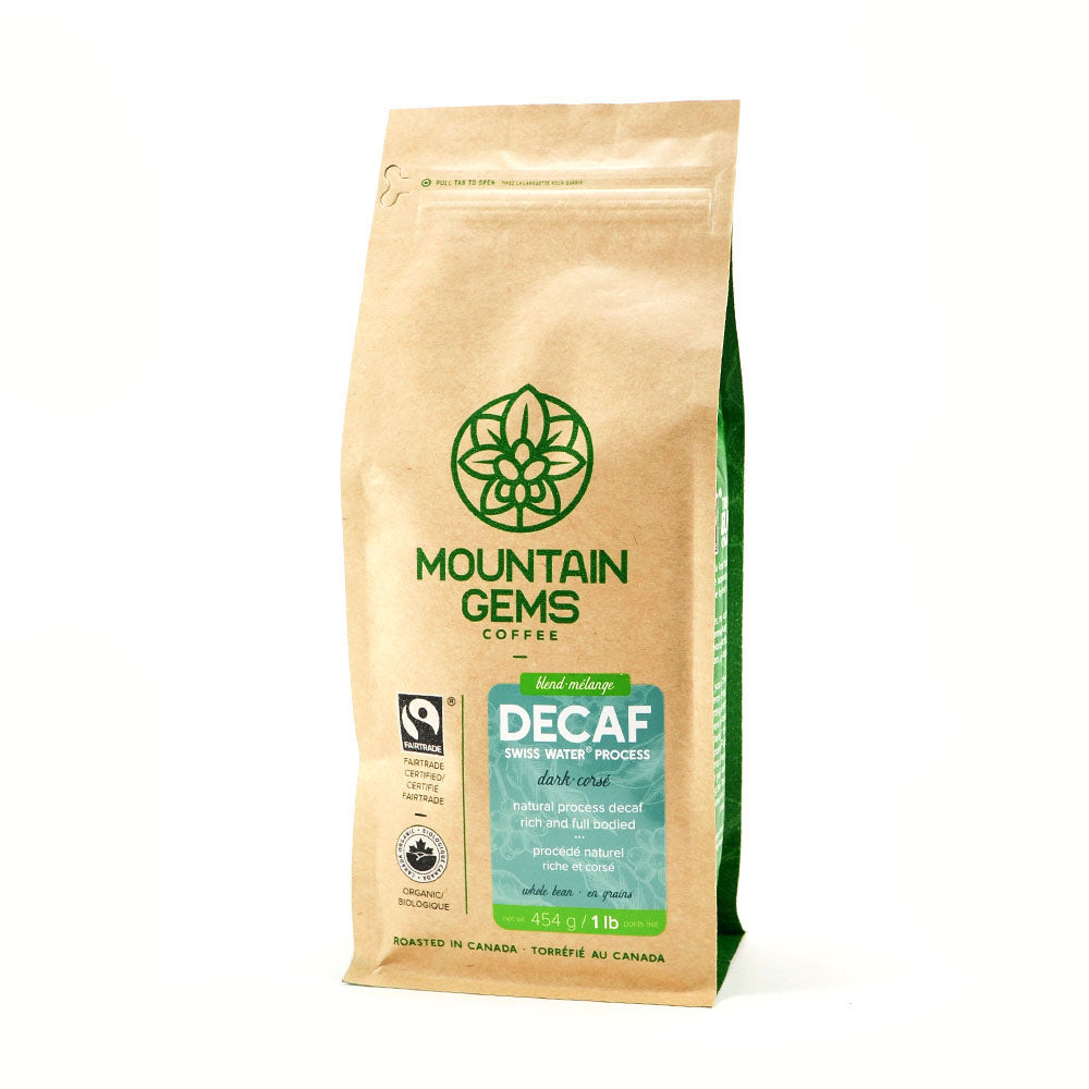 Mountain Gems Swiss Water Decaffeinated Fairtrade Organic Coffee