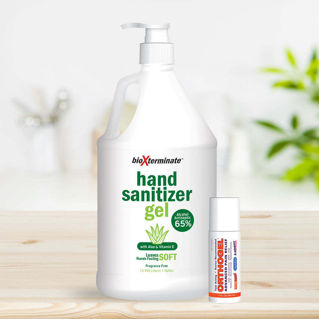 Gallon Jug of Hand Sanitizing Gel with Free OrthoGel Roll-On Bonus!