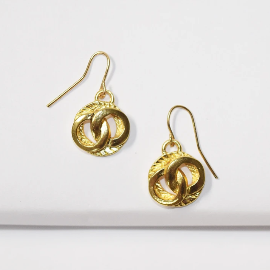 Karine Sultan Elegant Circle Dangle Earrings