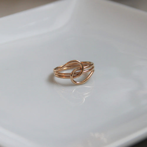 Dear Jane 14k Gold Filled Interlocking Ring