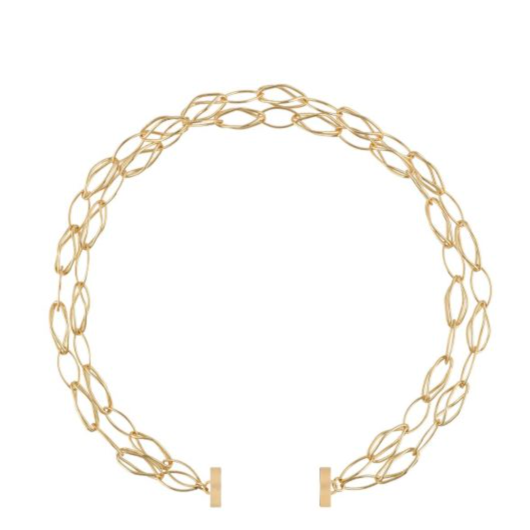 Clara Williams Gold Plated Willow Chain N3239