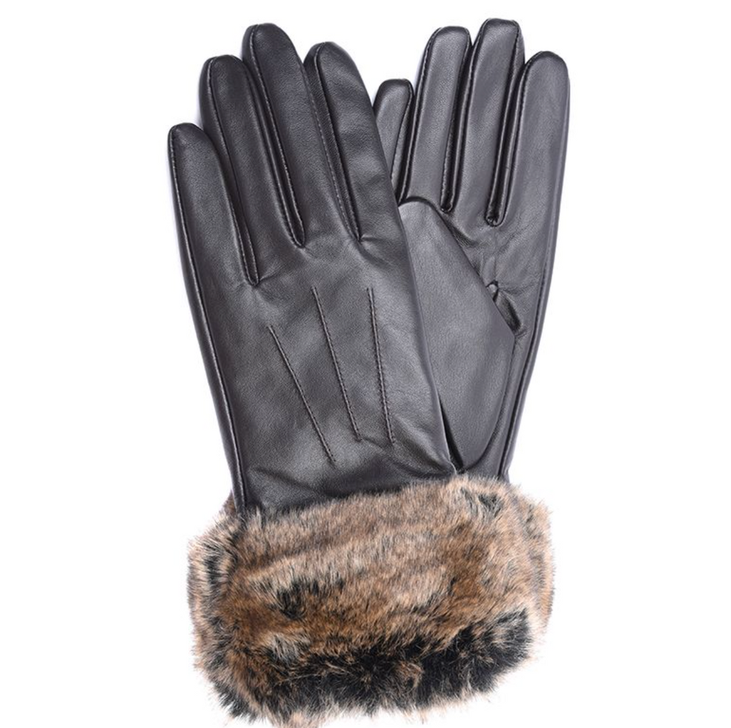 Barbour Fur-trimmed Gloves