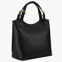 Olivia Shopper Natural Pebbled Leather