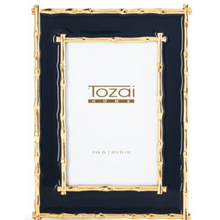 Picture Frame, Brynn Gold Bamboo Border, Assorted Colors, 4x6