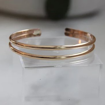 Dear Jane Double Cuff 14K Gold Filled Bracelet
