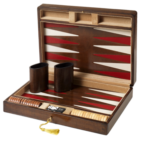 Vanni Pratesi & Rogai Italian Leather Backgammon Set