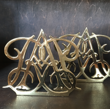 Brass and Gold Leaf Bookends