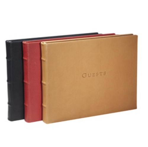 Guest Book - Traditional Smooth Leather