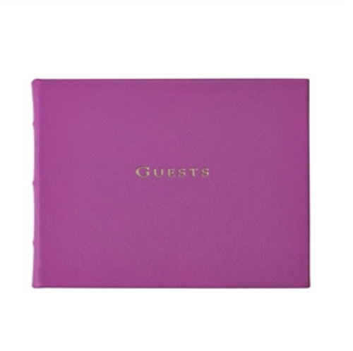 Guest Book - Bright Pebble Leather