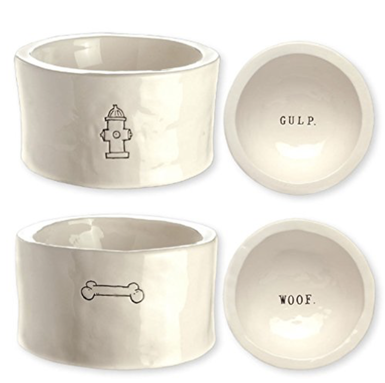 Dog Ceramic Bowl Set