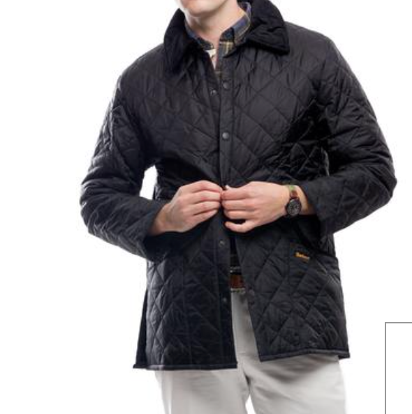 Barbour Mens Liddesdale Quilted Jacket Thistles On Libbie
