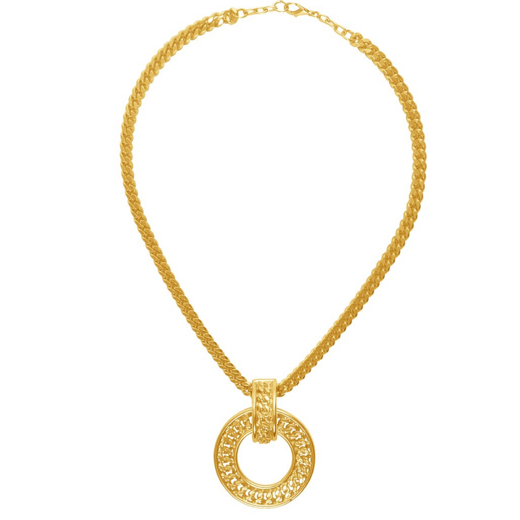 Karine Sultan Gold Pendant Necklace