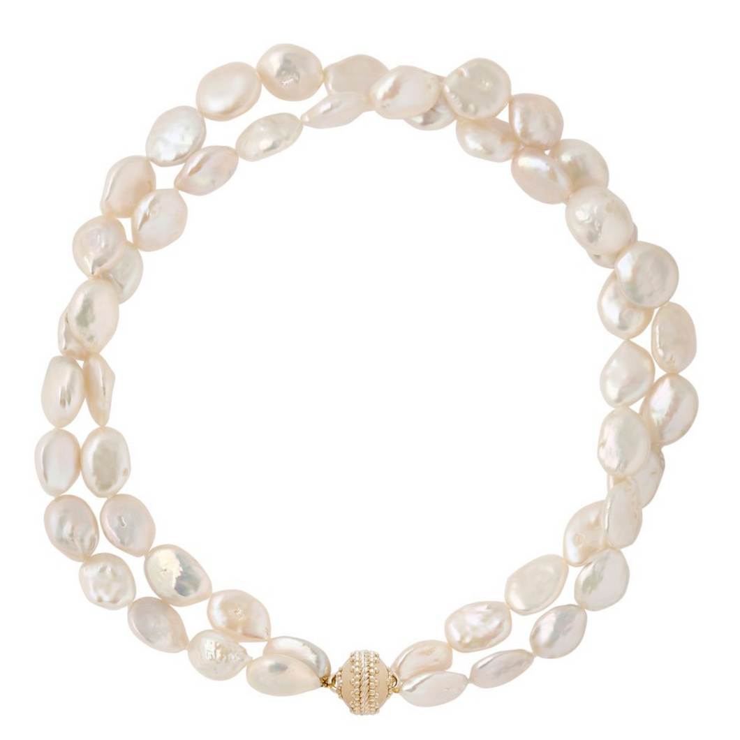LTD FWP Coin Pearls 2 Strand N-3426