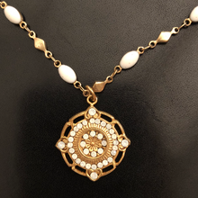 Rhinestone and Enamel Chain Necklace