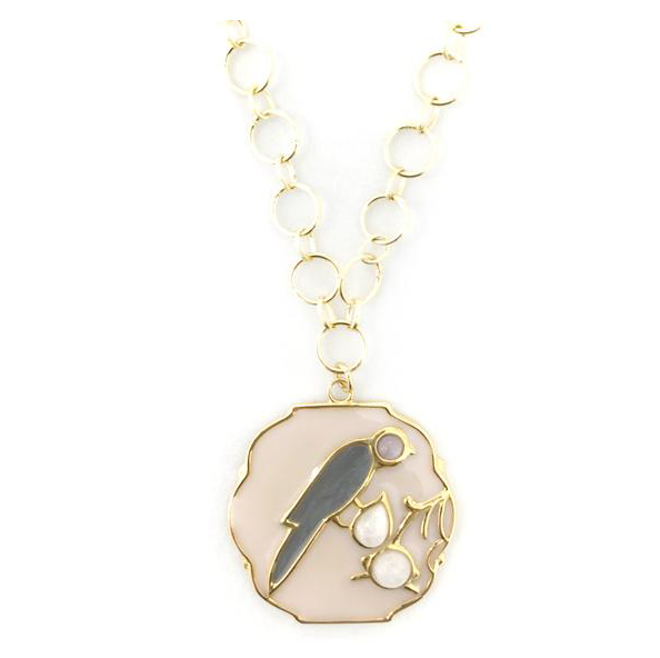 Griffen Bird Charm Necklace