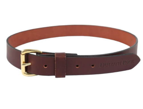 Duluth Pack Smooth Brown Leather Belt 1 1/4