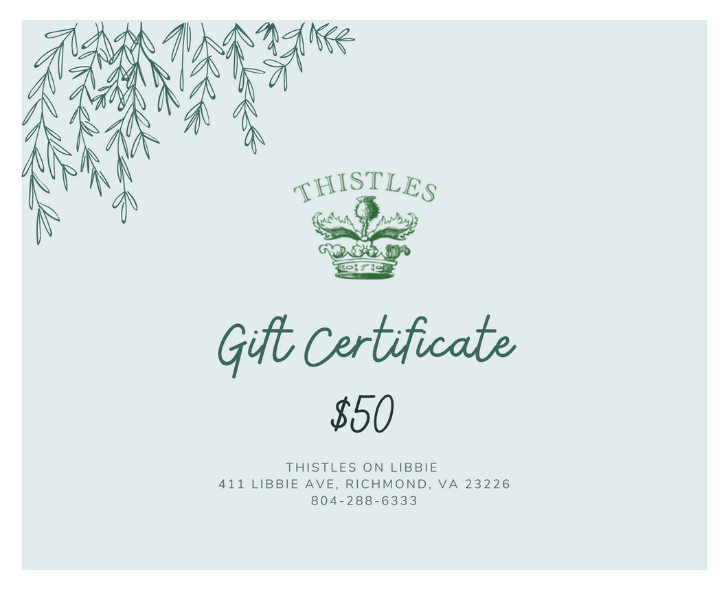 Thistles on Libbie Gift Card