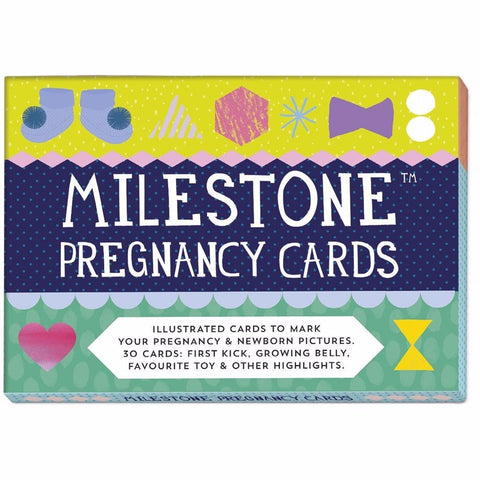 Milestone Pregnancy Cards Christening Gift  Gift Sets MILESTONE Cards green child of mine