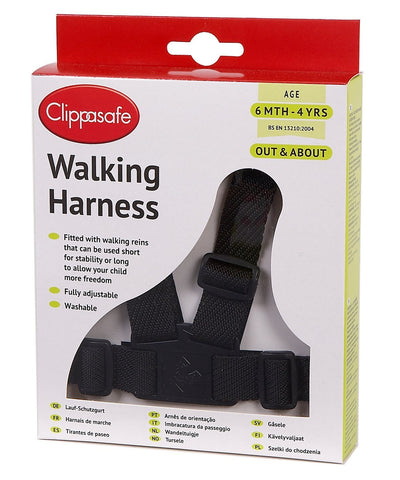 Clippasafe Walking Harness and Reins (Black) 1  Childs Reins Clippasafe green child of mine
