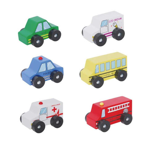 Discoveroo 6 Car Set traditional wooden toys  toys Discoveroo green child of mine