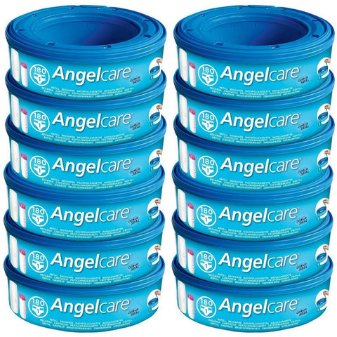 Angelcare Refill Cassettes - Pack of 12  Nappy Disposal Bags Angelcare green child of mine