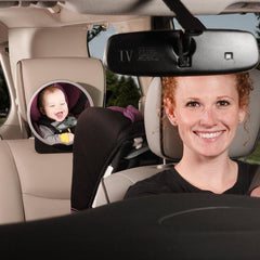 Diono Easy Raer View Car Mirror New Design 2014 Silver  Rear view car mirror Diono green child of mine