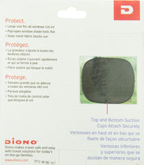 diono sun stoppers side window solar mesh packaging back of box