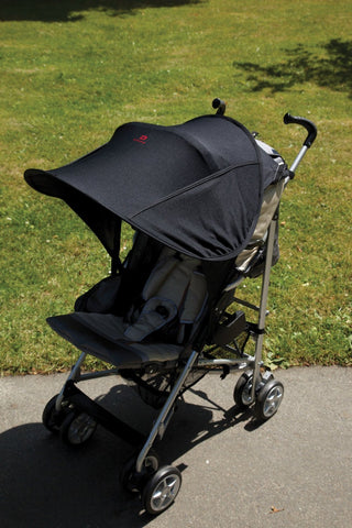 Diono Pram Shade Maker Universal Stroller Sun Shade Canopy (Black)  Parasols & Sun Covers Diono green child of mine