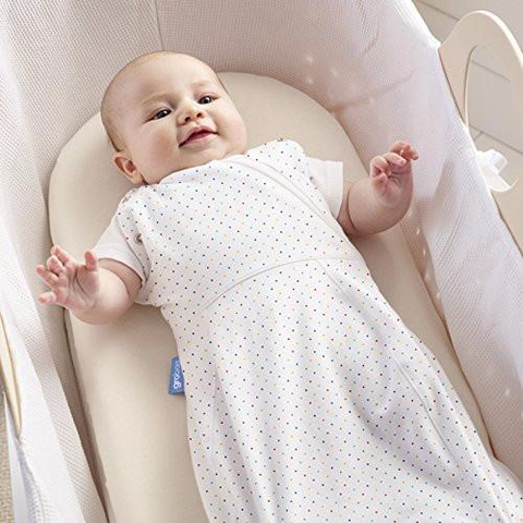 The Gro Company Snug New Born Grobag/Swaddle (5-12 Lbs Rainbow Spot/Light) Rainbow Spot Light  Gro Baby Sleeping Bags The Gro Company green child of mine