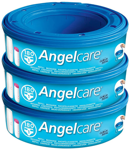 Sangenic Angelcare Nappy Bin Refill Cassettes for nappy disposal bin Packs of 3, 6 , 9 or 12  Nappy Disposal Bags ANGELCARE green child of mine