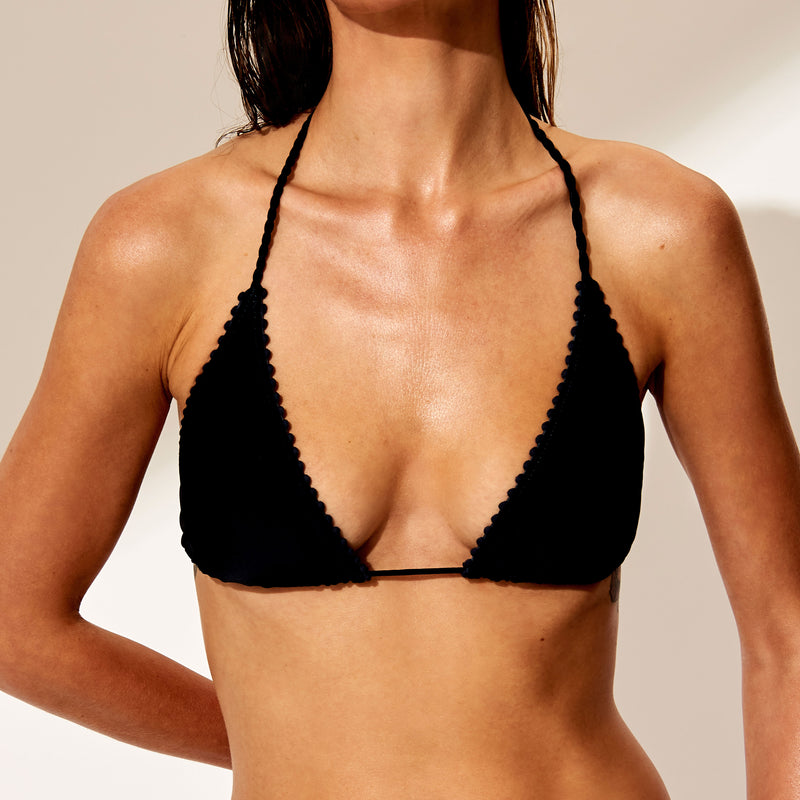 The Bennett Navy Bikini Top