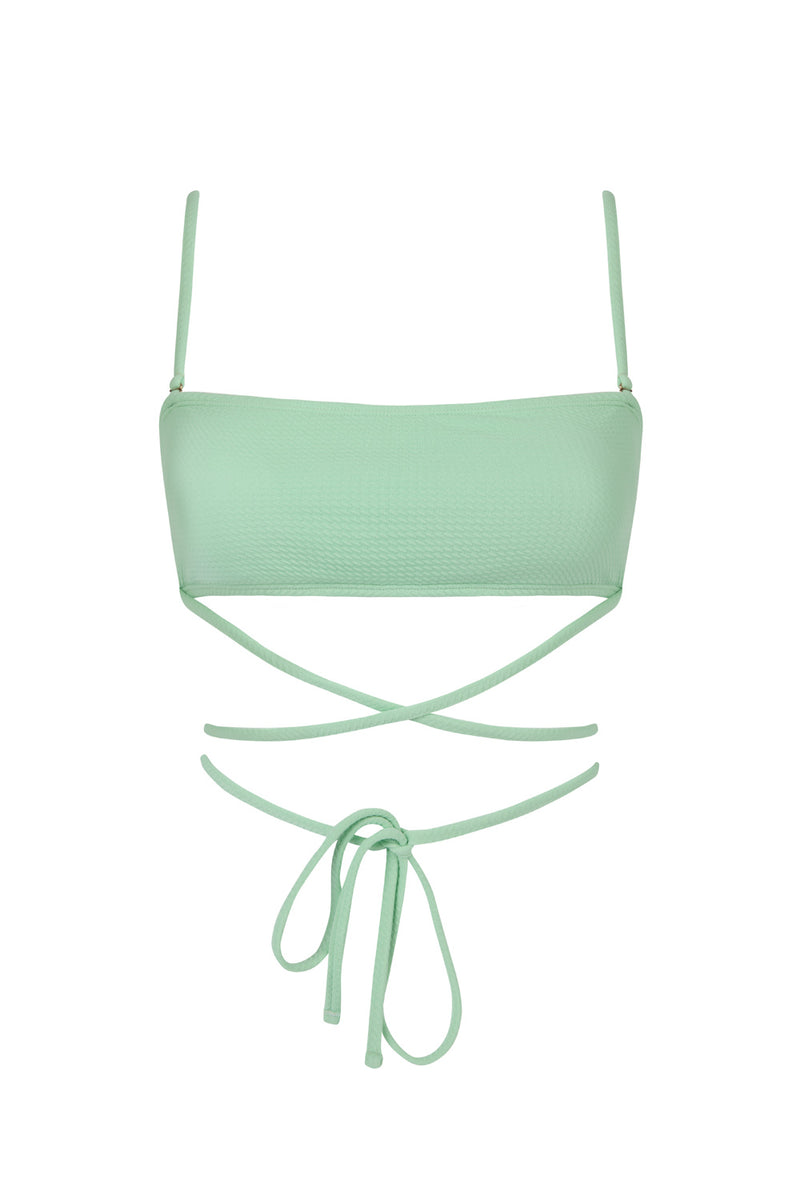 The Mint Green Herbert Bandeau Top