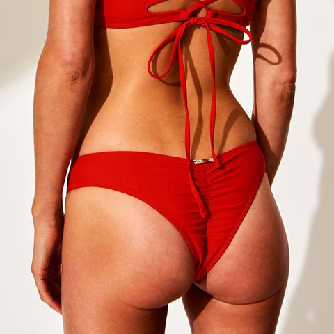 Oliver Jane Ladies Bikini Bottom Fullerton Red