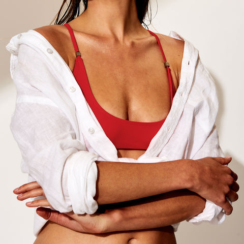 Oliver Jane Ladies Bikini Top Fullerton Red
