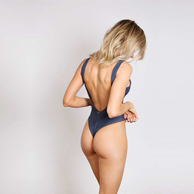 The Fullerton Charcoal Grey Swimsuit