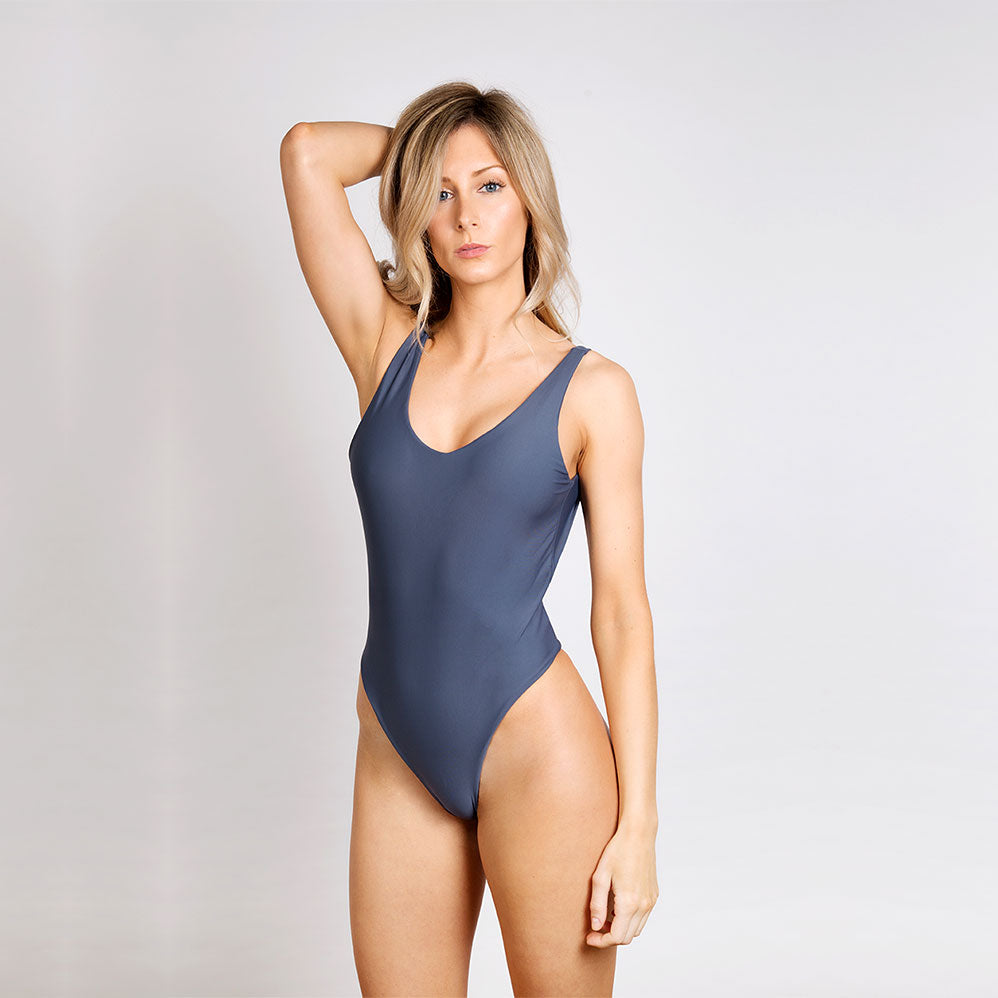 Oliver Jane Ladies Swimsuit Fullerton Charcoal Grey
