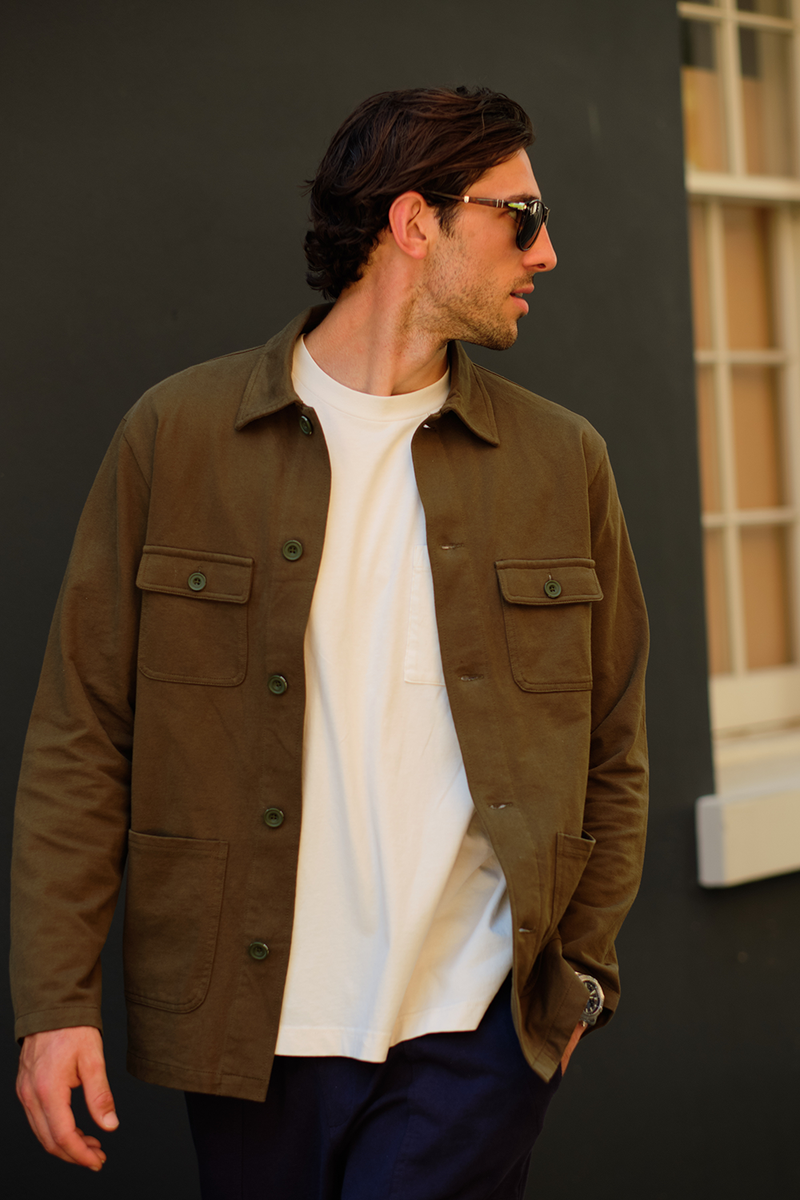The Khaki Four Pocket Military Jacket