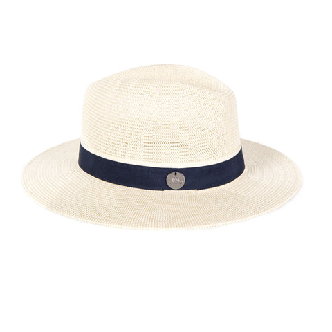 Oliver Jane White & Navy Panama Hat