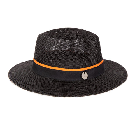 Oliver Jane Charcoal & Orange Panama Hat