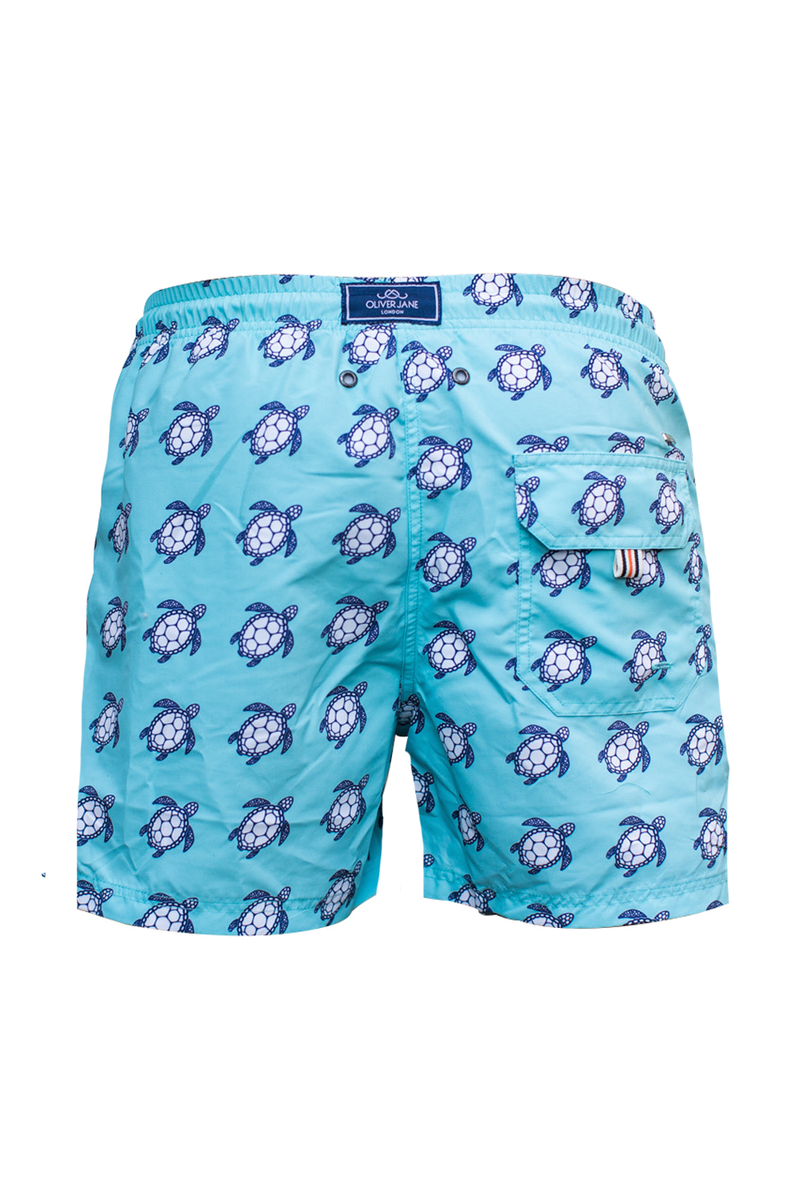 The Beach Turtle Blue Swim Short