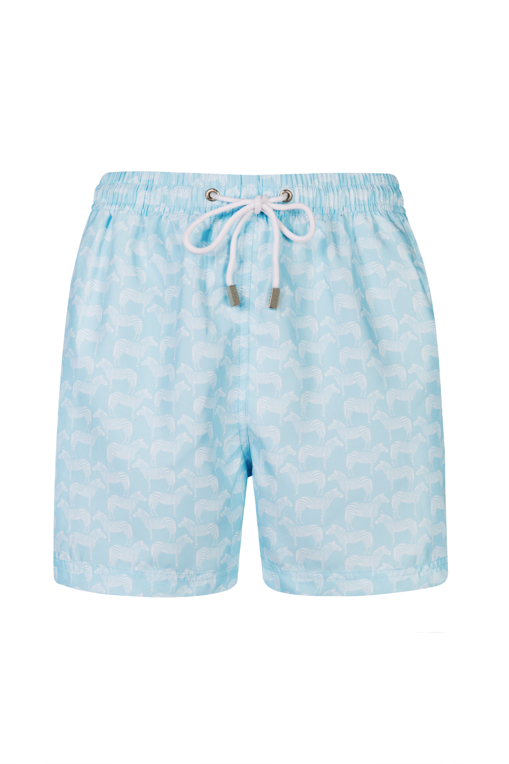 The  Pastel Blue Zebra Swim Short