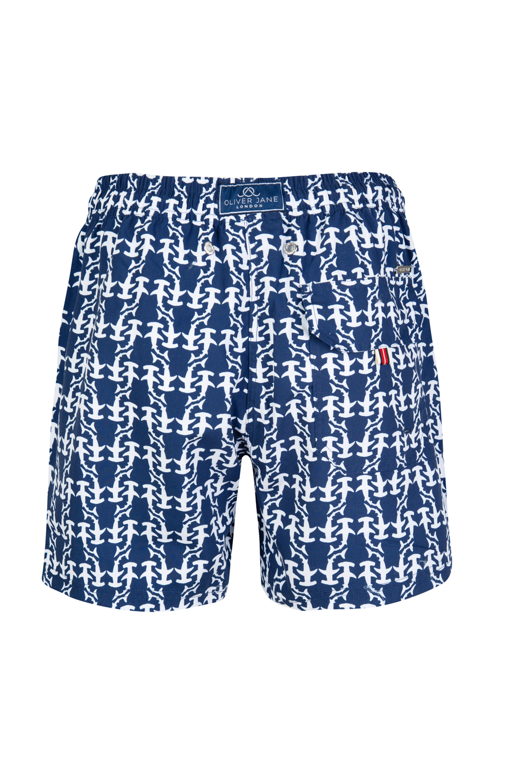 The Navy Hammerhead Shark Swim Shorts